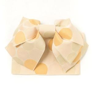 白×黄色×緑 ひまわり柄 レトロクラシック浴衣7点セット